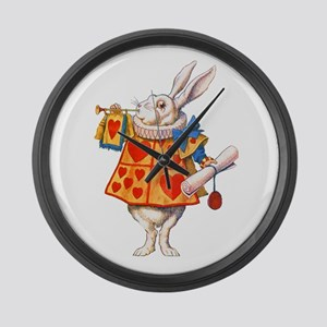 ALICE - THE WHITE RABBIT Large Wall Clock