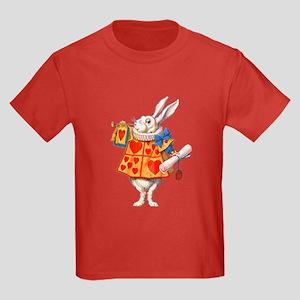 ALICE - THE WHITE RABBIT Kids Dark T-Shirt