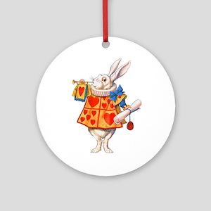 ALICE - THE WHITE RABBIT Ornament (Round)