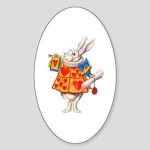 ALICE - THE WHITE RABBIT Sticker (Oval)