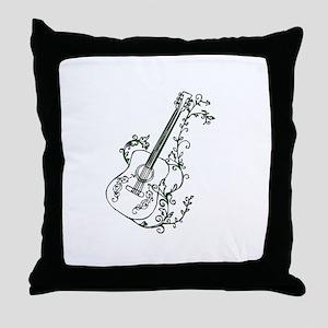 Ivy Guitar Throw Pillow