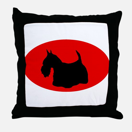 Scottie Silhouette Throw Pillow