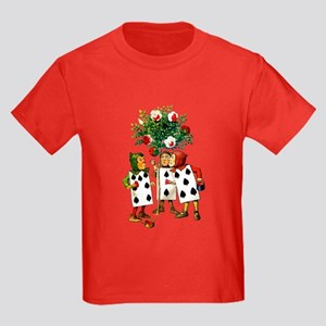 ALICE- PAINTING THE QUEENS ROSES Kids Dark T-Shirt