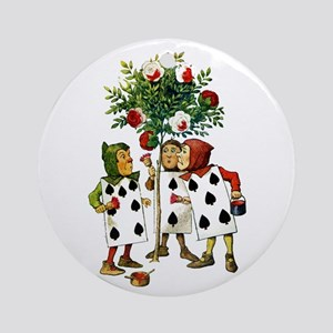 ALICE- PAINTING THE QUEENS ROSES Ornament (Round)