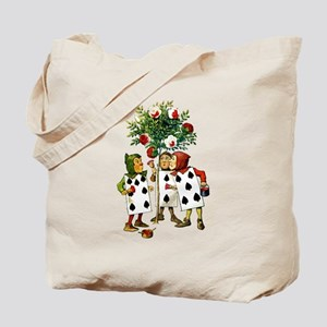 ALICE- PAINTING THE QUEENS ROSES Tote Bag