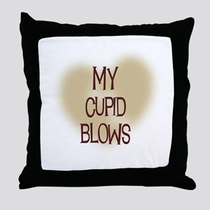 My Cupid Blows Throw Pillow