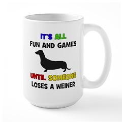 Fun & Games - Weiner Large Mug