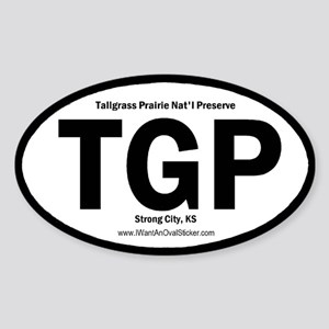 Tallgrass Prairie Oval Sticker