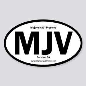 Mojave Oval Sticker