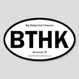 Big Thicket Oval Sticker