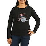 JRT with USA Flag Women's Long Sleeve Dark T-Shirt