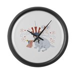 JRT with USA Flag Large Wall Clock