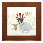 JRT with USA Flag Framed Tile