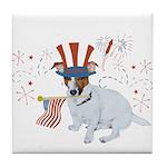 JRT with USA Flag Tile Coaster