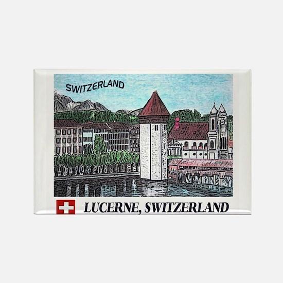 Lucerne Switzerland Rectangle Magnet