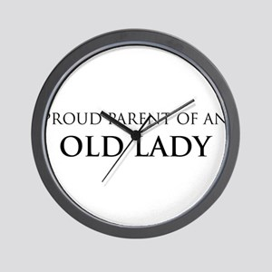 Proud Parent: Old Lady Wall Clock