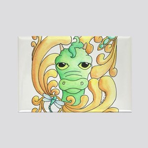 Framed Dragon Face Rectangle Magnet
