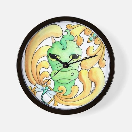 Framed Dragon Face Wall Clock