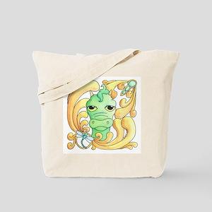 Framed Dragon Face Tote Bag