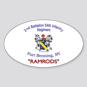 2nd Bn 54th Inf Reg Sticker (Oval)