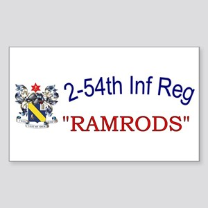 2nd Bn 54th Inf Reg Sticker (Rectangle)