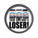 That Spin Was a Loser Wall Clock