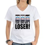 That Spin Was a Loser Women's V-Neck T-Shirt