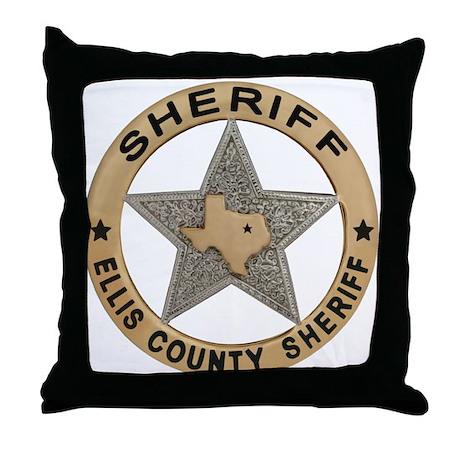 Ellis County Sheriff Throw Pillow