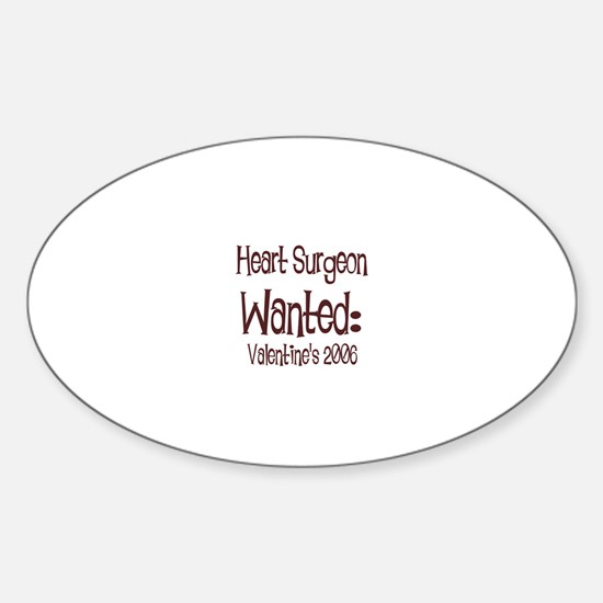 Heart Surgeon Wanted: Valenti Oval Decal