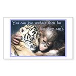 Live Without Sticker (Rectangle 10 pk)