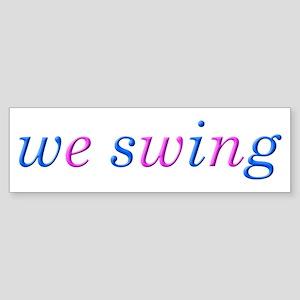 we swing Sticker (Bumper)