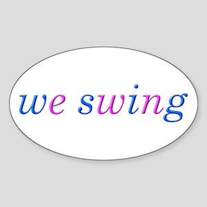 we swing Sticker (Oval)