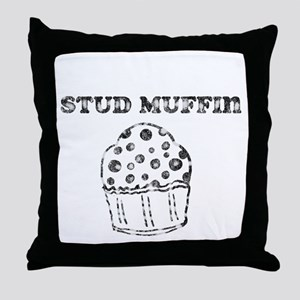 Vintage Stud Muffin Throw Pillow