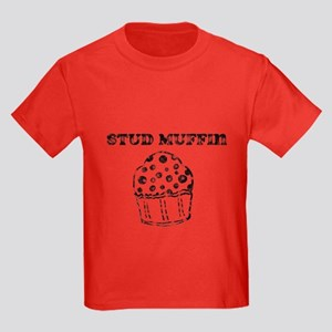 Vintage Stud Muffin Kids Dark T-Shirt