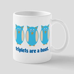 Triplets are a hoot - blue Mug