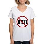 Anti-Anti Women's V-Neck T-Shirt