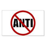 Anti-Anti Sticker (Rectangle 50 pk)