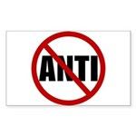 Anti-Anti Sticker (Rectangle 10 pk)