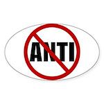 Anti-Anti Sticker (Oval 50 pk)