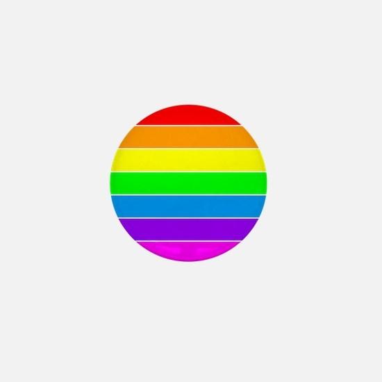 Rainbow GLBT Pride Mini Button