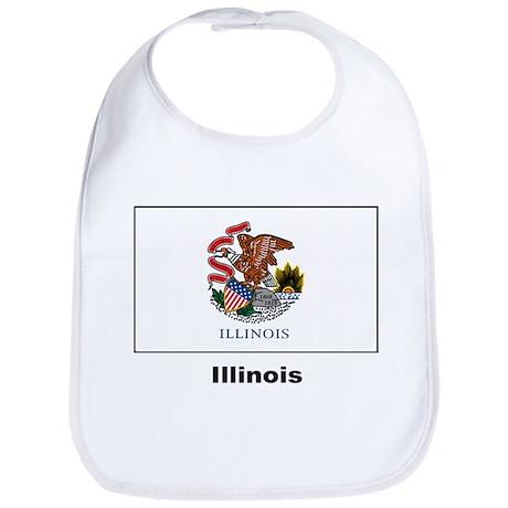 Illinois State Flag Bib