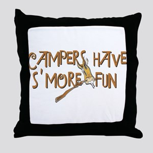 Campers Have S'More Fun! Throw Pillow