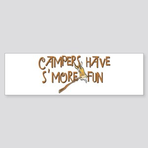 Campers Have S'More Fun! Sticker (Bumper)