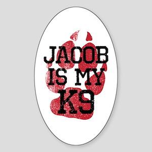 Jacob is My K9 Sticker (Oval)