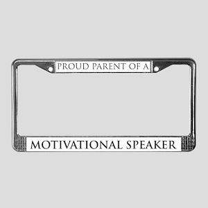 Proud Parent: Motivational Sp License Plate Frame