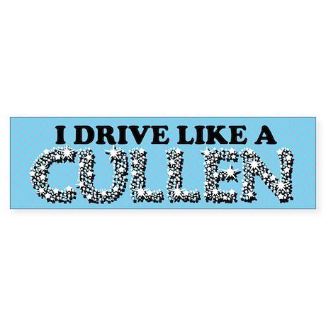 drive like a cullen remix Sticker (Bumper)