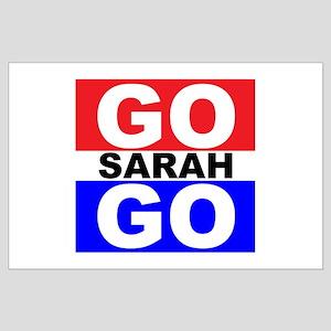 Go Sarah Go Large Poster