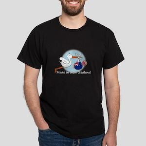 Stork Baby New Zealand Dark T-Shirt