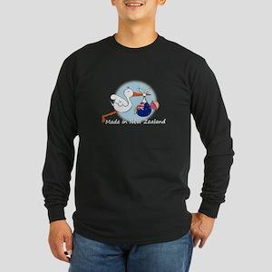 Stork Baby New Zealand Long Sleeve Dark T-Shirt