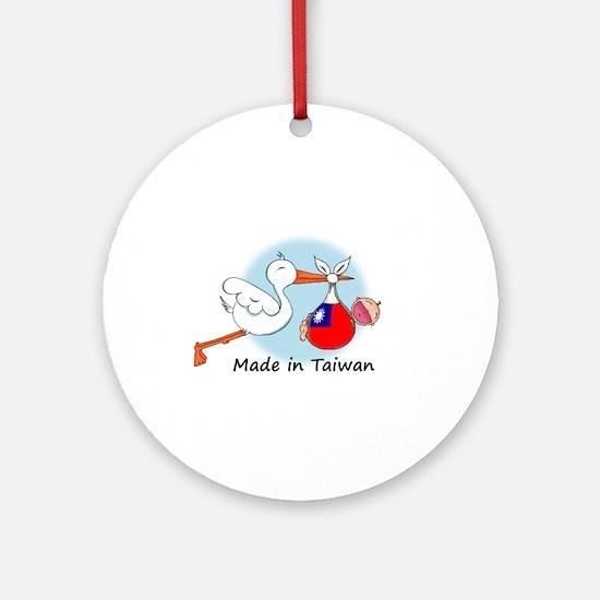 Stork Baby Taiwan Ornament (Round)